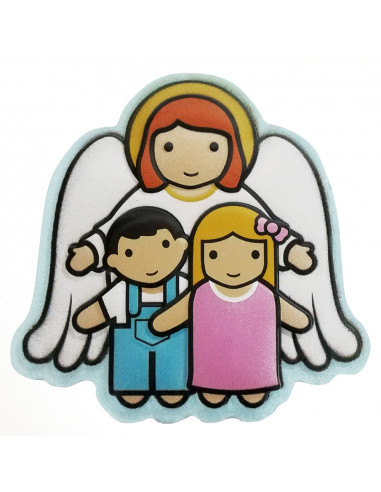 Guardian Angel and Children Magnet