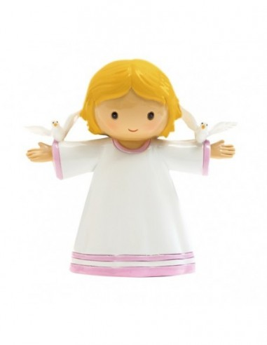 Little Pink Angel with 2 doves in the...